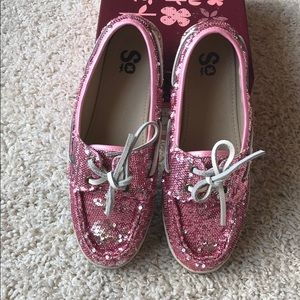 SO Shoes - Pink sequin & silver sequins shoes